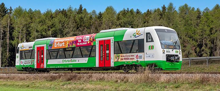 Bundesgartenschau Erfurt 2021 / Erfurter Bahn - Kommt gut an!